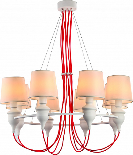 Люстра Arte Lamp SERGIO A3325LM-8WH - фото 1